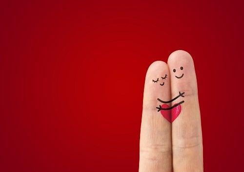 А happy couple in love