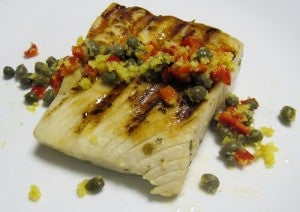 Cuban-style grilled amberjack
