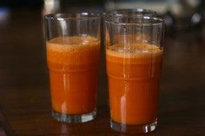 suco de cenoura contra o refluxo gástrico