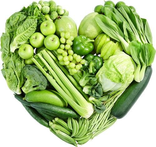 Frutas e verduras que contém magnésio.