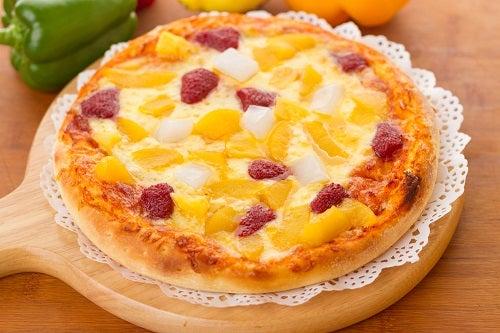 Abuse das frutas na pizza