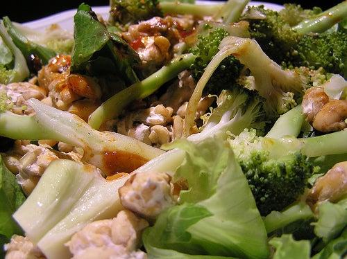 Brócolis com frango
