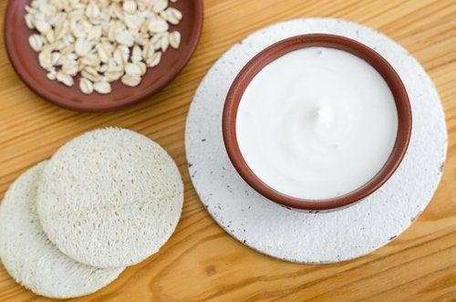 Máscara de leite para pele oleosa