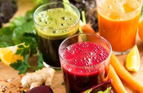 Tratamento purificador a base de sucos naturais