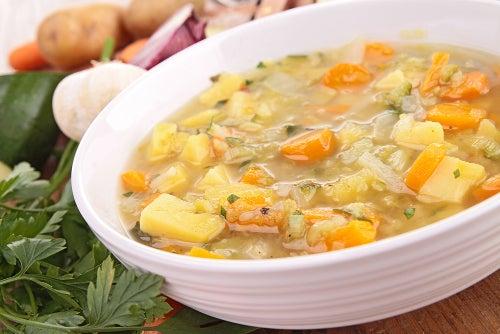 Sopa para tratar a gastroenterite aguda