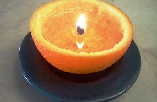 Como fazer velas aromáticas com cascas de frutas