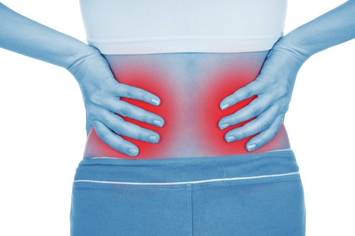 Dor nas costas pode ser problema nos rins