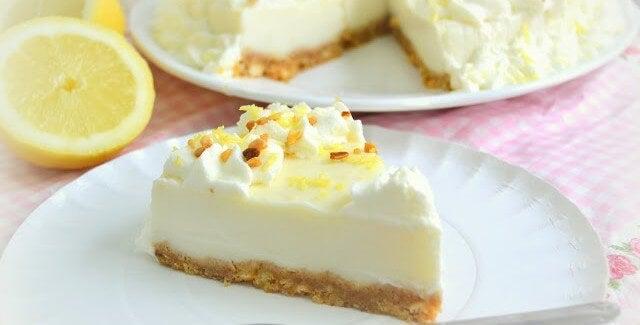 Receita de torta de limão caseira