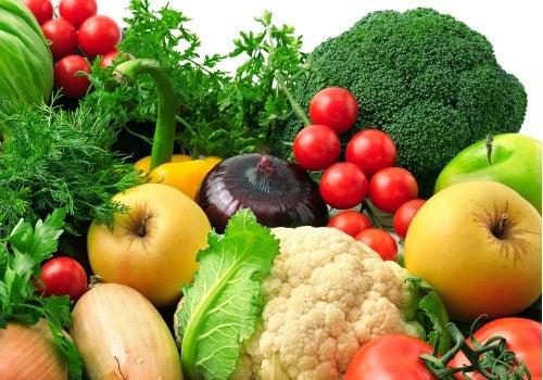 Frutas e verduras são aconselhadas para o tratamento de eczema da pele