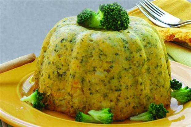 Receita de Pudim de abóbora e brócolis