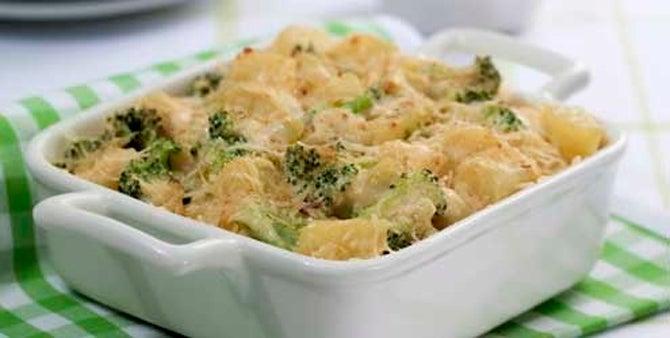 Receita a Gratinado de brócolis e abóbora
