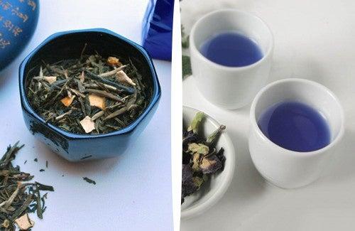 Chá azul para perder peso naturalmente