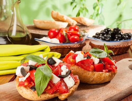Exemplos de dieta mediterrânea