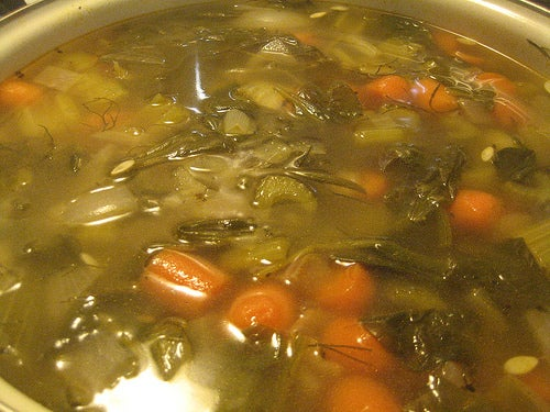 sopa saudável de legumes