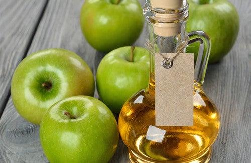 Tratamento de beleza com vinagre de maçã
