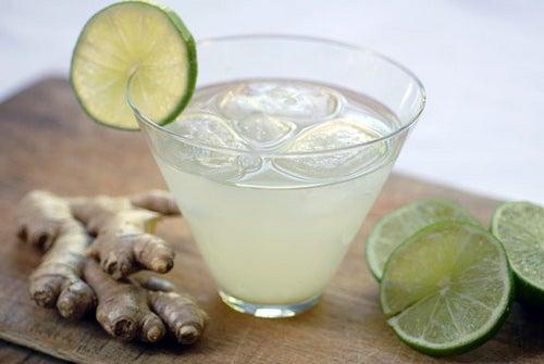 Bebidas energéticas com gengibre