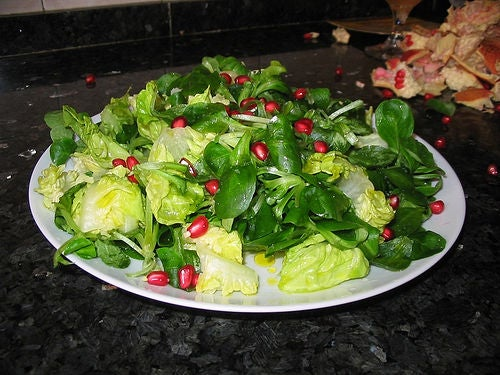 Salada energética vegetariana para perder peso