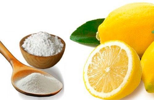 Creme exfoliante de bicarbonato de sódio e limãoparaclarear as axilas e o pescoço