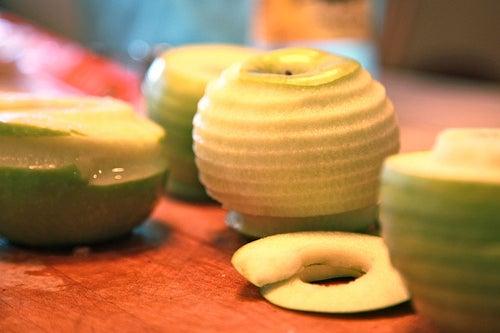 cascas das frutas