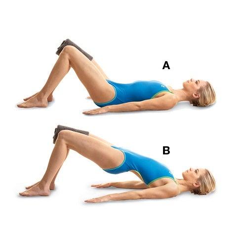 Exercício A ponte para fortalecer as pernas