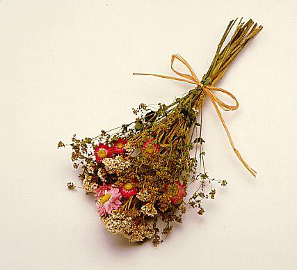 flores secas odor agradável