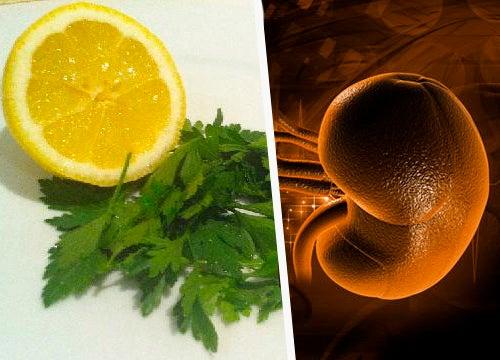 Remédio caseiro com salsa e limão para limpar os rins