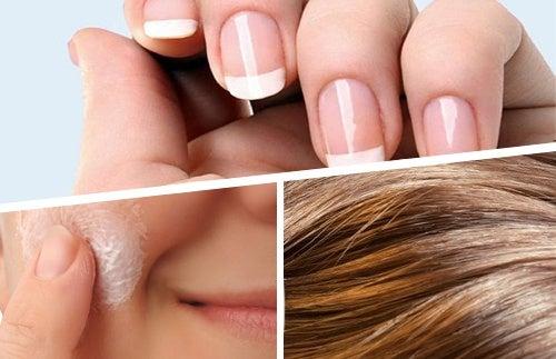 Alimentos para melhorar a saúde do cabelo, pele e unhas