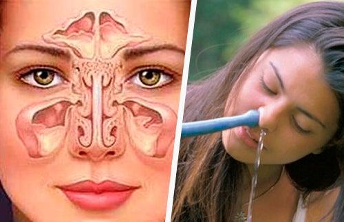 Limpeza nasal ajuda a parar com o ronco