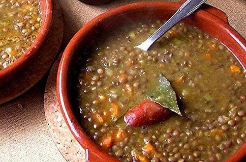 Sopa de lentilhas contra a prisao de ventre