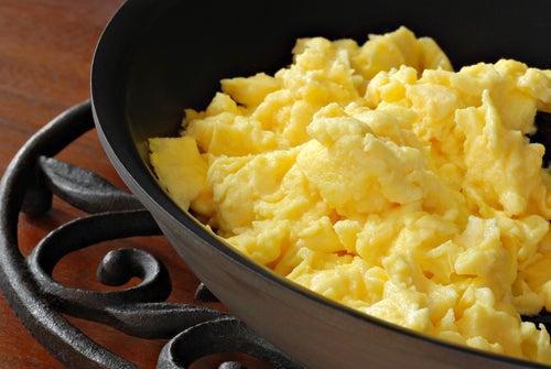 Cadé da manhã com ovos mexidos