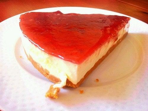 torta de queijo philadelphia para saciar a ansiedade por doces