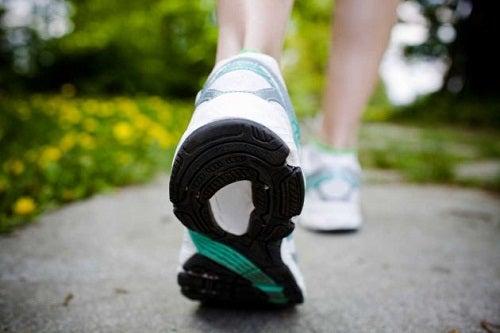 Caminhas por eliminar várias calorias por dia