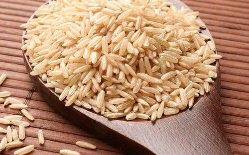 a água de arroz