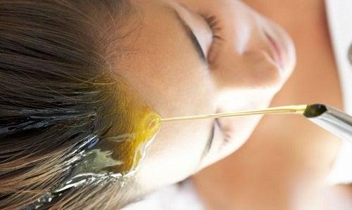 óleo de cabelo
