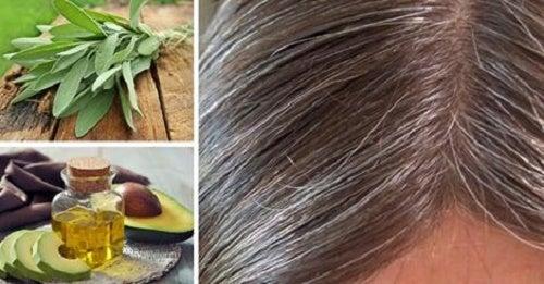 Causas e remédios naturais para os cabelos brancos