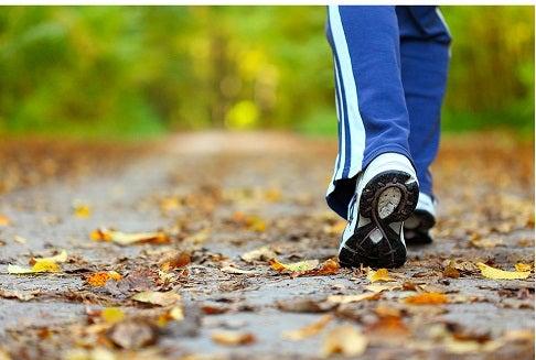 Caminhada para queimar a gordura