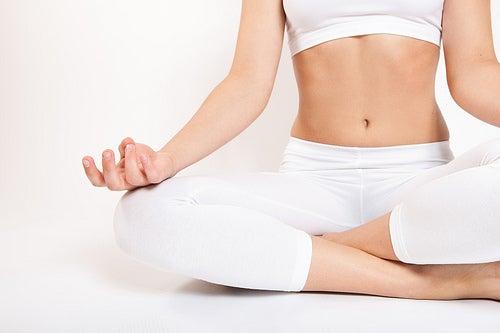 exercício de yoga