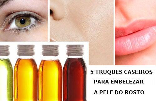 Cinco truques caseiros para embelezar seu rosto