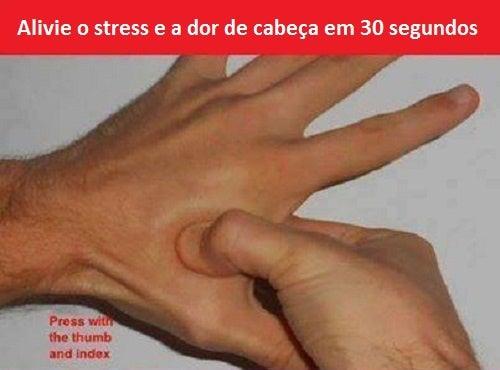 Como aliviar a dor de cabeça e o estresse com acupressão