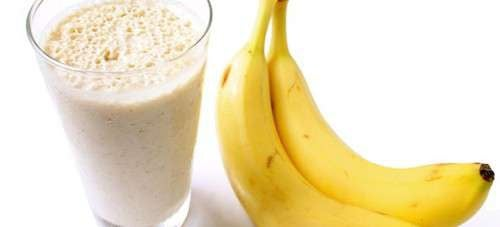 Batidas de banana para a retenção de líquidos