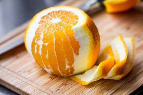 Utilidade da casca de laranja