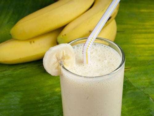 Vitamina de banana para eliminar resíduos do cólon