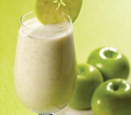 Vitamina aveia e maçã verde