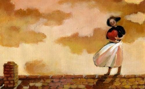 Mulher esperando o amor
