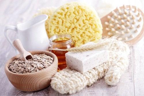 Materiais para esfoliação de pele com dermatite
