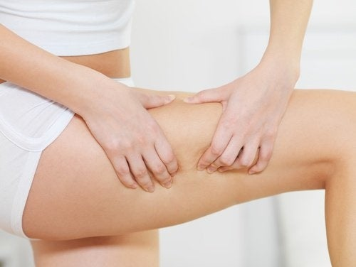 celulite na perna