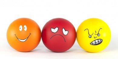 Rostos que representam emoções