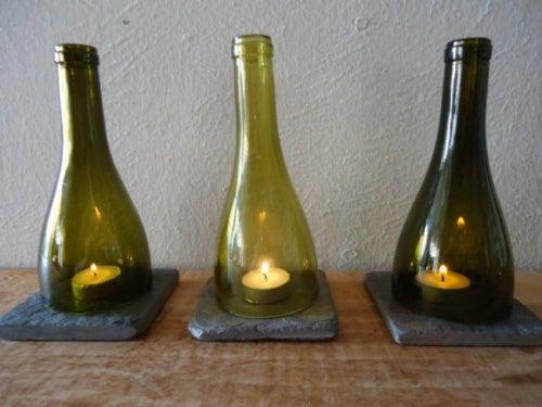 Garrafas de vidro são objetos que não deveriam ser jogados fora