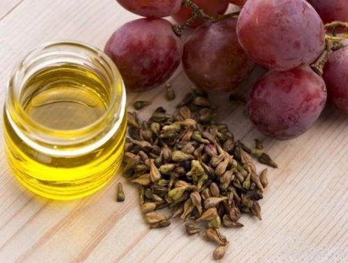 Óleo de uva para crescimento dos cabelos