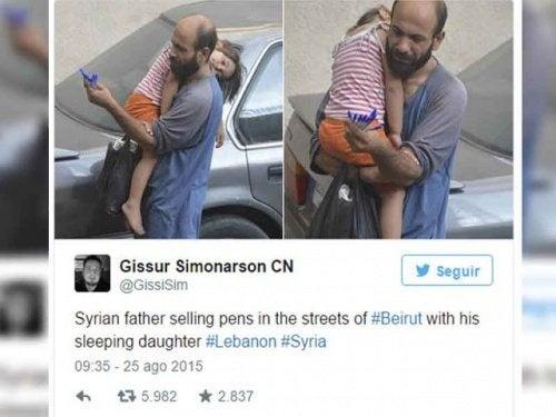 """O """"vendedor anônimo"""" só tinha oito canetas e uma filha faminta"""